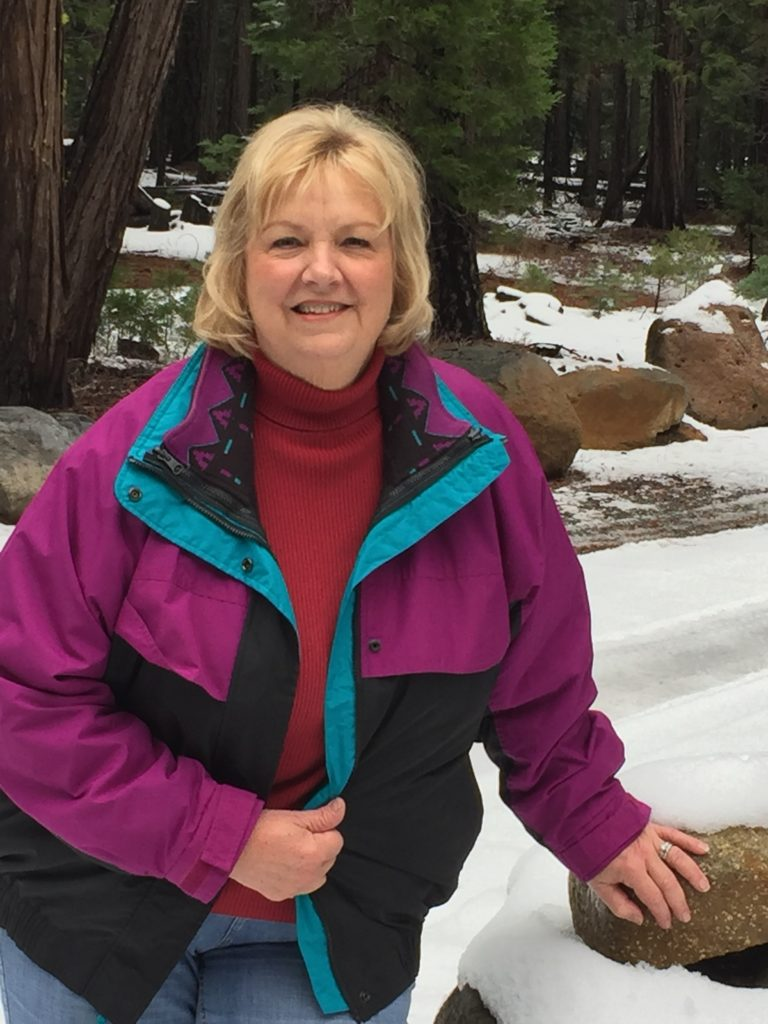 Rhonda visits the snow at Butte Meadows